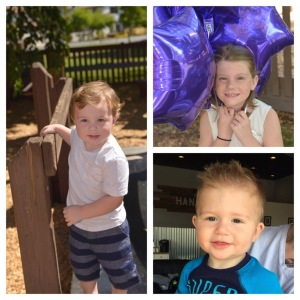 Julie's three grandkids - taken before grandbaby #4 arrived!