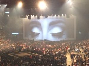 Karen attending an Adele concert
