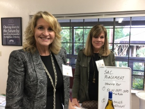 Past President Penny Stauffer and Debbie Jordan of Sacramento Placement Services